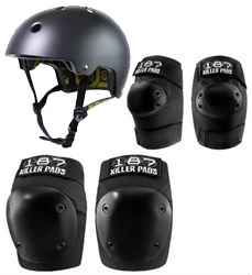 187 Killer Pads Fly Combo Pack With Helmet Knee And Elbow